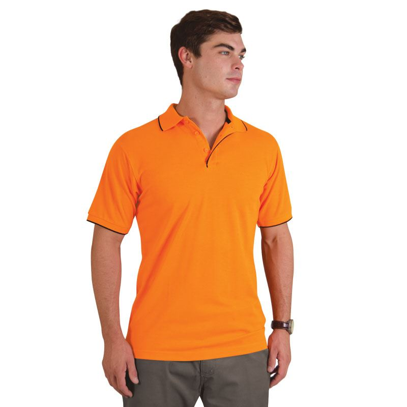 Picture of Contrast Trim Pique Knit Polo