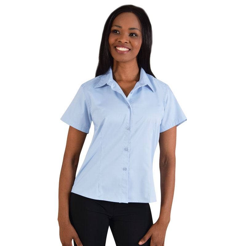 Picture of Ladies Classic Woven Shirt Short Sleeve
