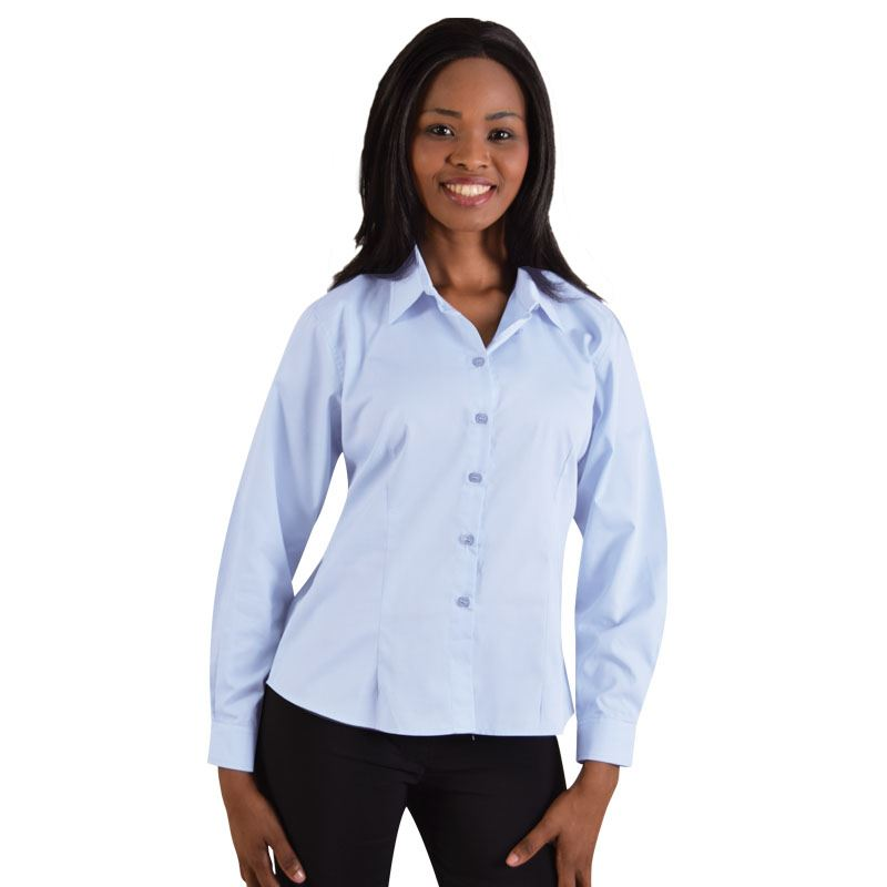 Picture of Ladies Classic Woven Shirt Long Sleeve